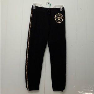 Justice gold trimmed sweatpants Sz 14